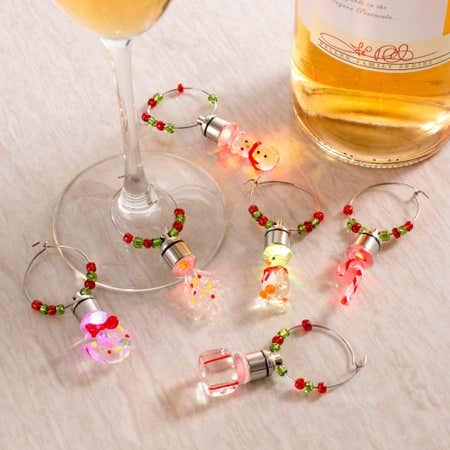 83709_KSP_Christmas_Glass_'Xmas_Icons'_LED_Wine_Charms___Set_of_6