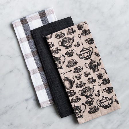 83880_Harman_Combo_'Tea_Party'_Cotton_Kitchen_Towel___Set_of_3__Black