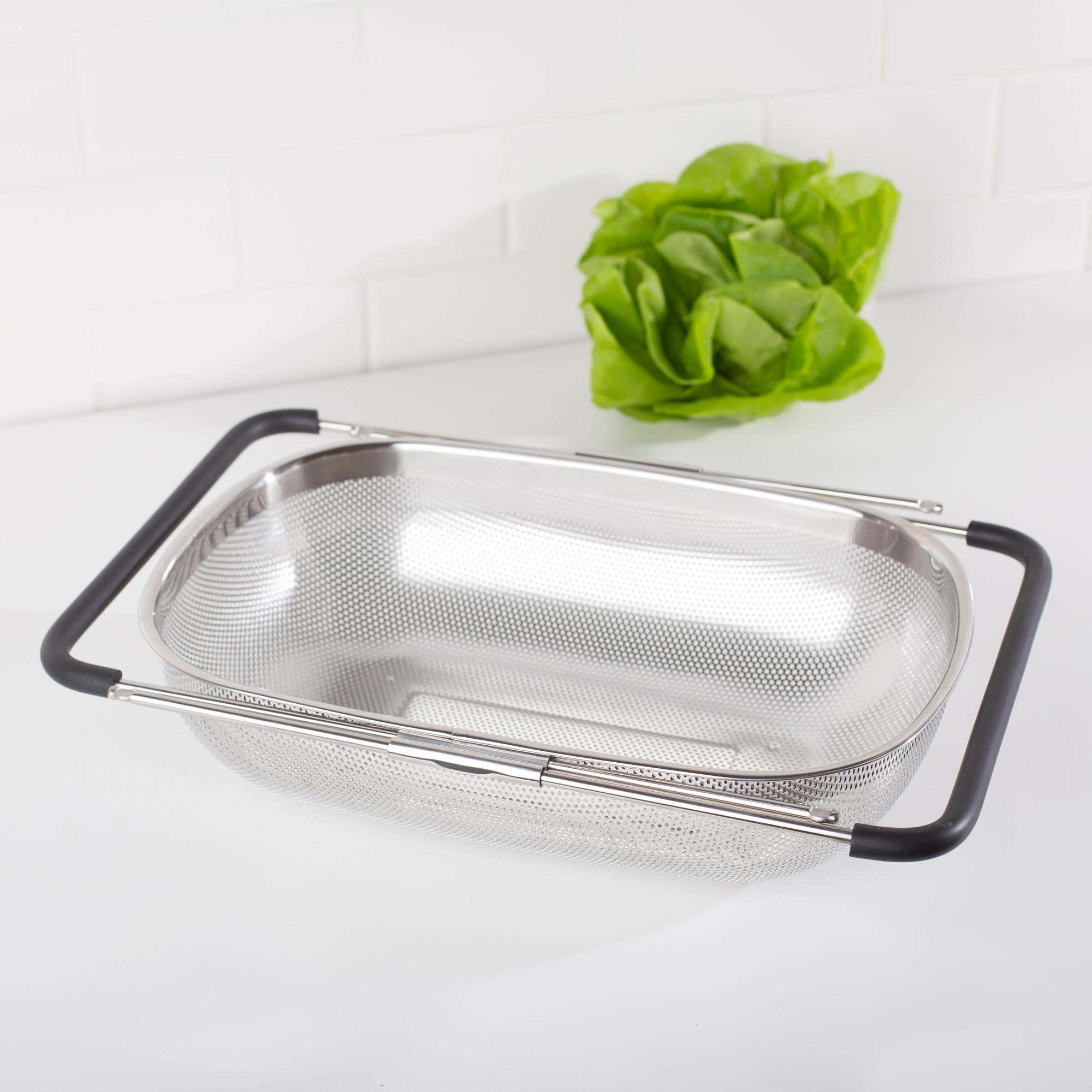 Ksp Punch Expandable Over Sink Strainer Stainless Steel Kitchen Stuff Plus