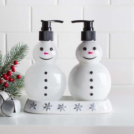 84137_Bio_Lab_Pure_'Snowman'_Soap___Lotion_Gift_Caddy___Set_of_2