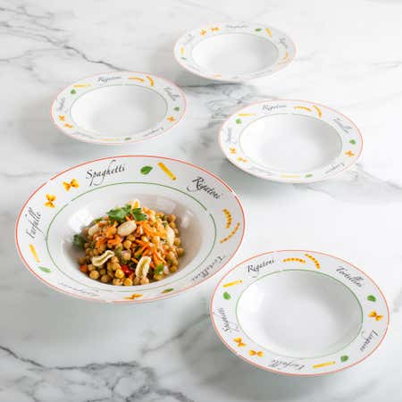84400_KSP_Tavola_'Script_Border'_Porcelain_Pasta_Bowl___Set_of_5
