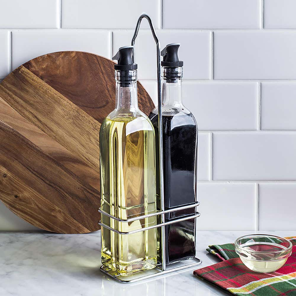 84450_KSP_Dripless_Glass_Oil___Vinegar_with_Stand___Set_of_2