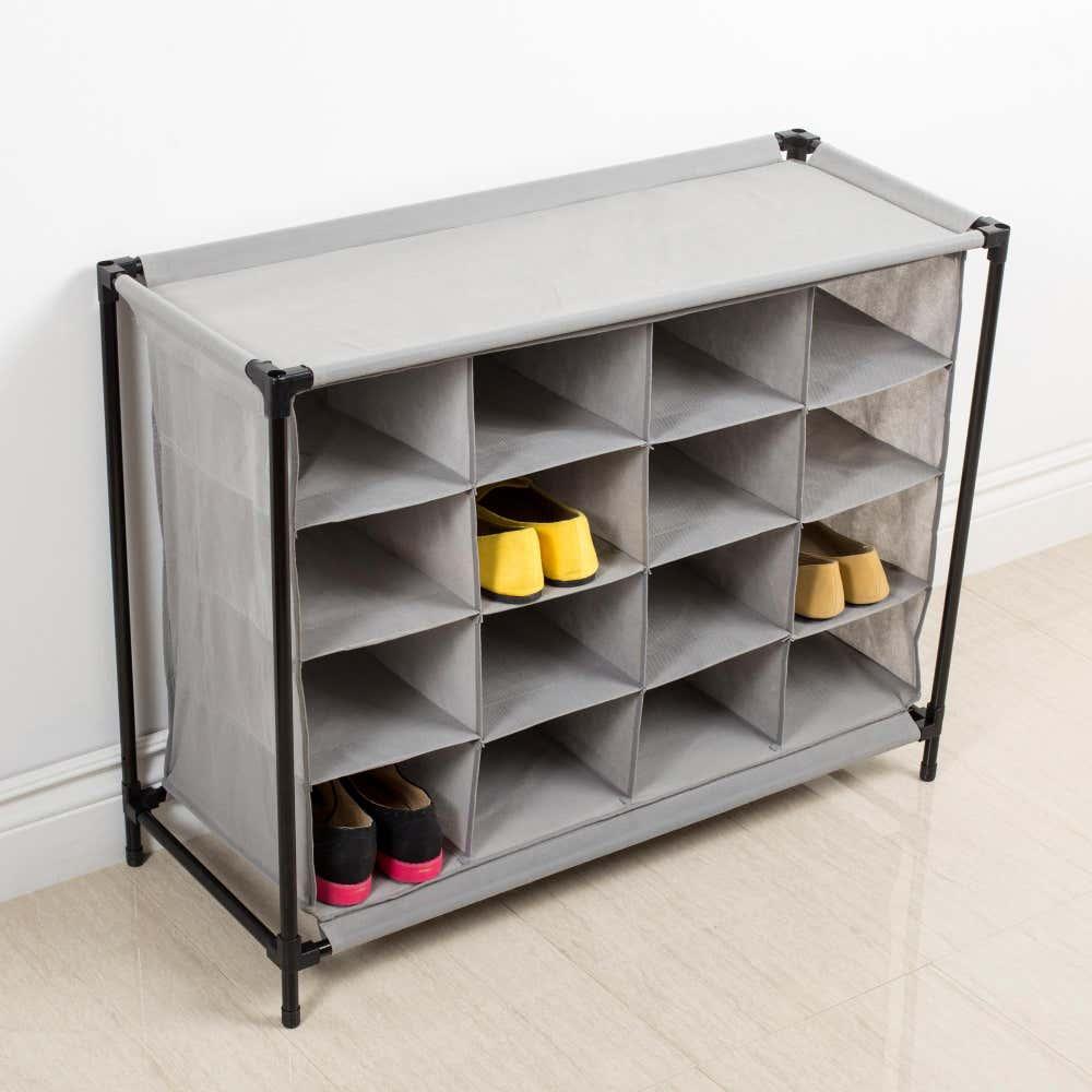 85240_KSP_Fabric_'16_Shoe'_Cabinet__Grey