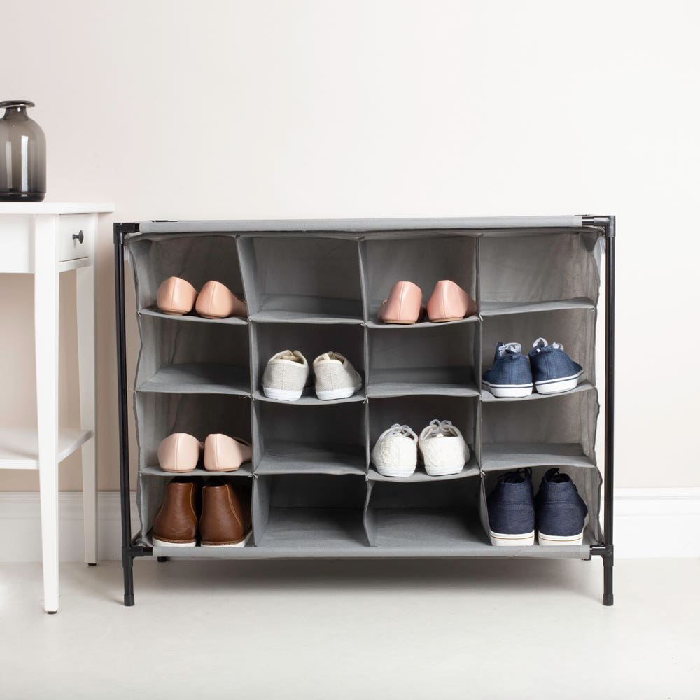 KSP Fabric '16 Shoe' Cabinet (Grey)