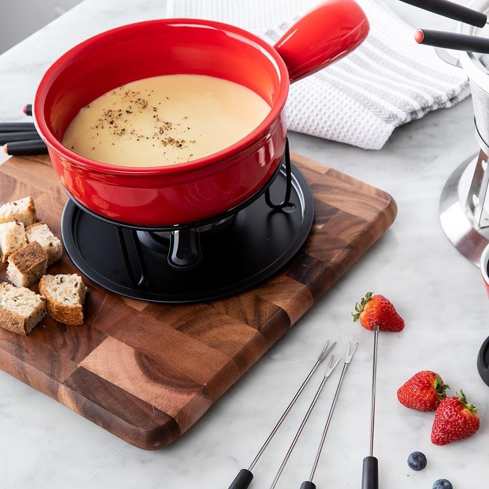 85503_Trudeau_Maison_Cardinal_Ceramic_Cheese_Fondue___Set_of_11__Red