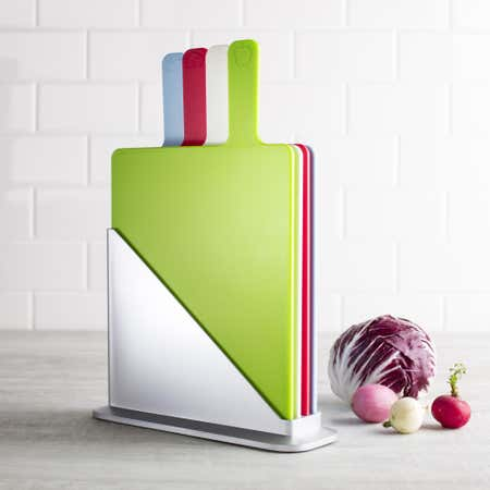 85977_KSP_Tab_Cutting_Boards_with_Holder___Set_of_5__Multi_Colour