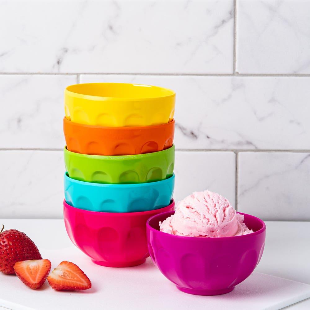 KSP Colour Fun Melamine Ice Cream Bowl - Set of 6 (Multi Colour)