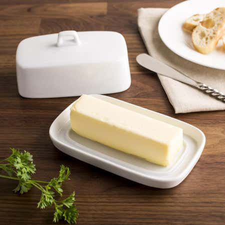 86142_KSP_Country_Porcelain_Butter_Dish__White