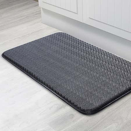 86346_KSP_Textaline_'Zig_Zag'_Medium_Anti_Fatigue_Memory_Foam_Mat__Black