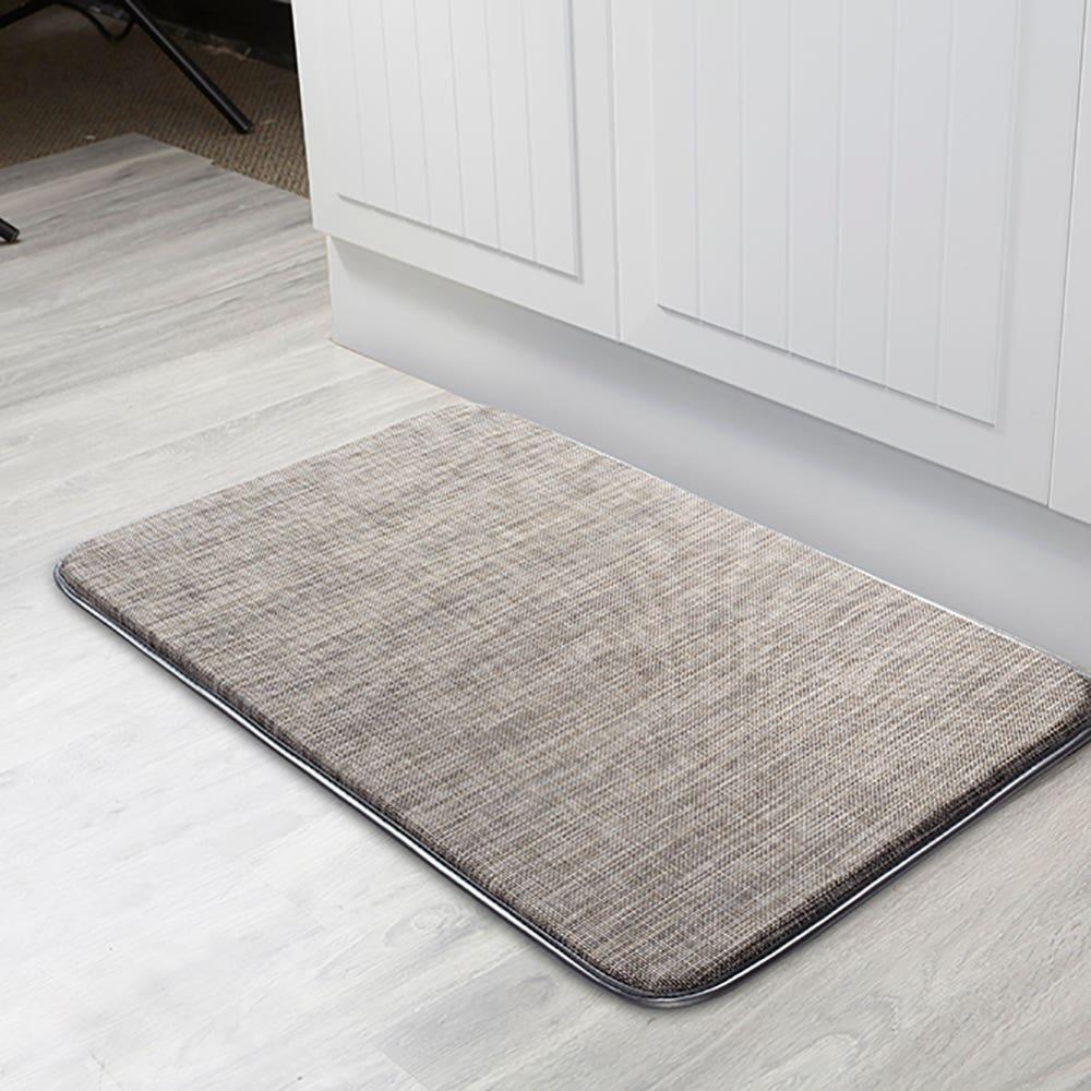 KSP Textaline 'Linen Look' Anti-Fatigue Memory Foam Mat (Brown)
