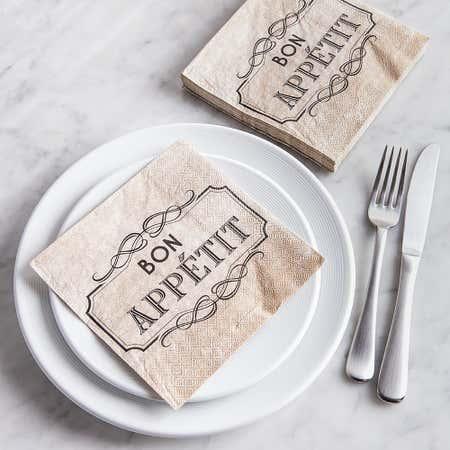 86629_Harman_3_Ply_'Bon_Appetit'_Paper_Napkin__Natural