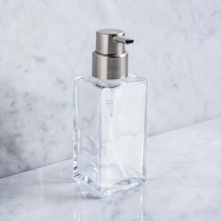 86779_iDesign_Casilla_'Modern'_Glass_Foaming_Soap_Pump__Clear_Brushed