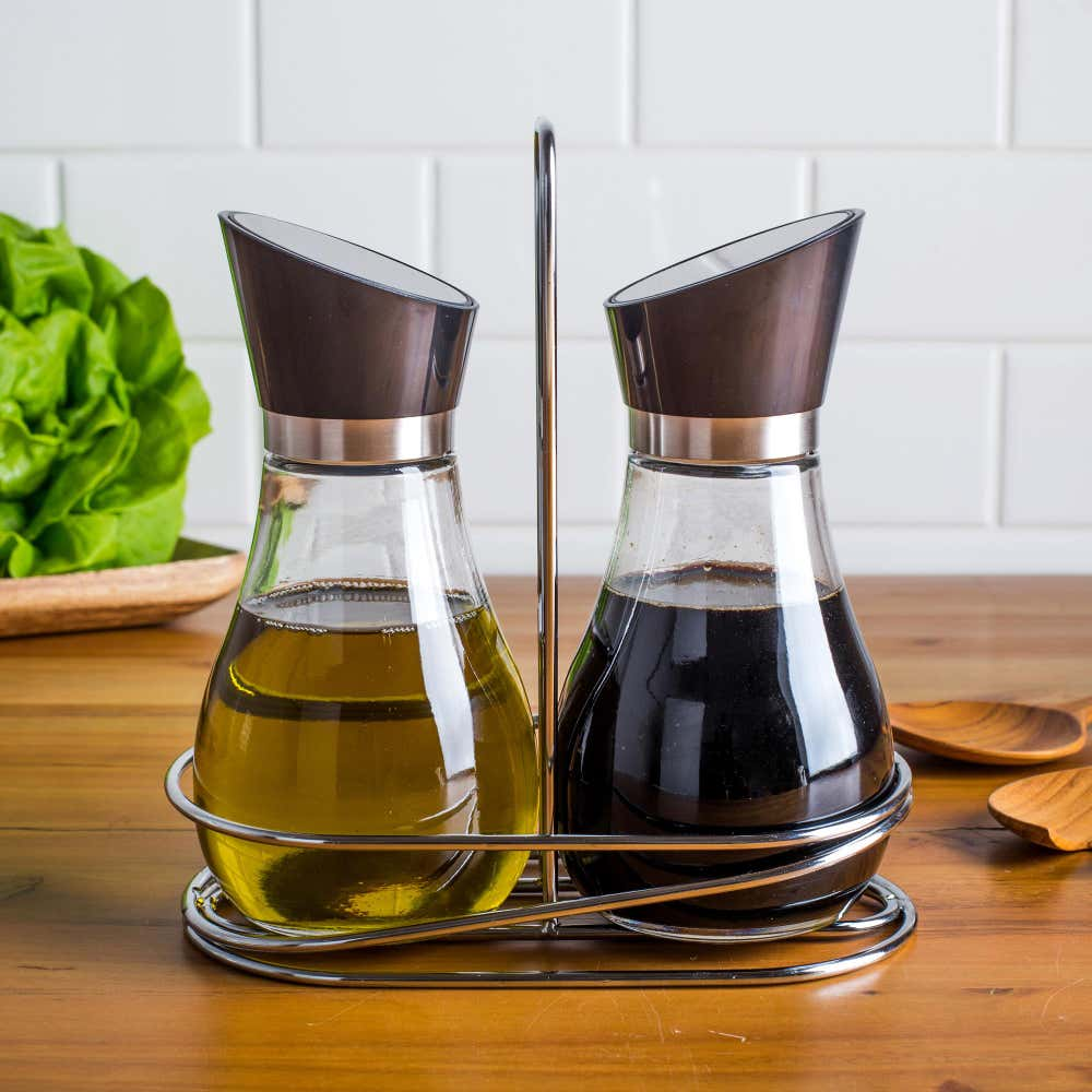 87164_KSP_Swivel_Oil_and_Vinegar_with_Stand___Set_of_2__Stainless_Steel
