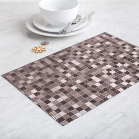 87490_KSP_Ritz_Metallic_'Squares'_PVC_Placemat__Pewter