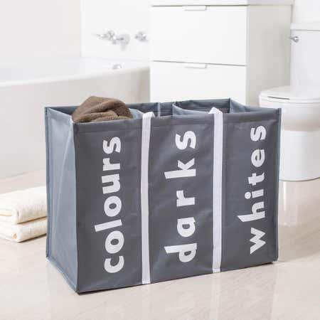 87549_KSP_Softsac_Triple_Laundry_Hamper_Sorter__Grey