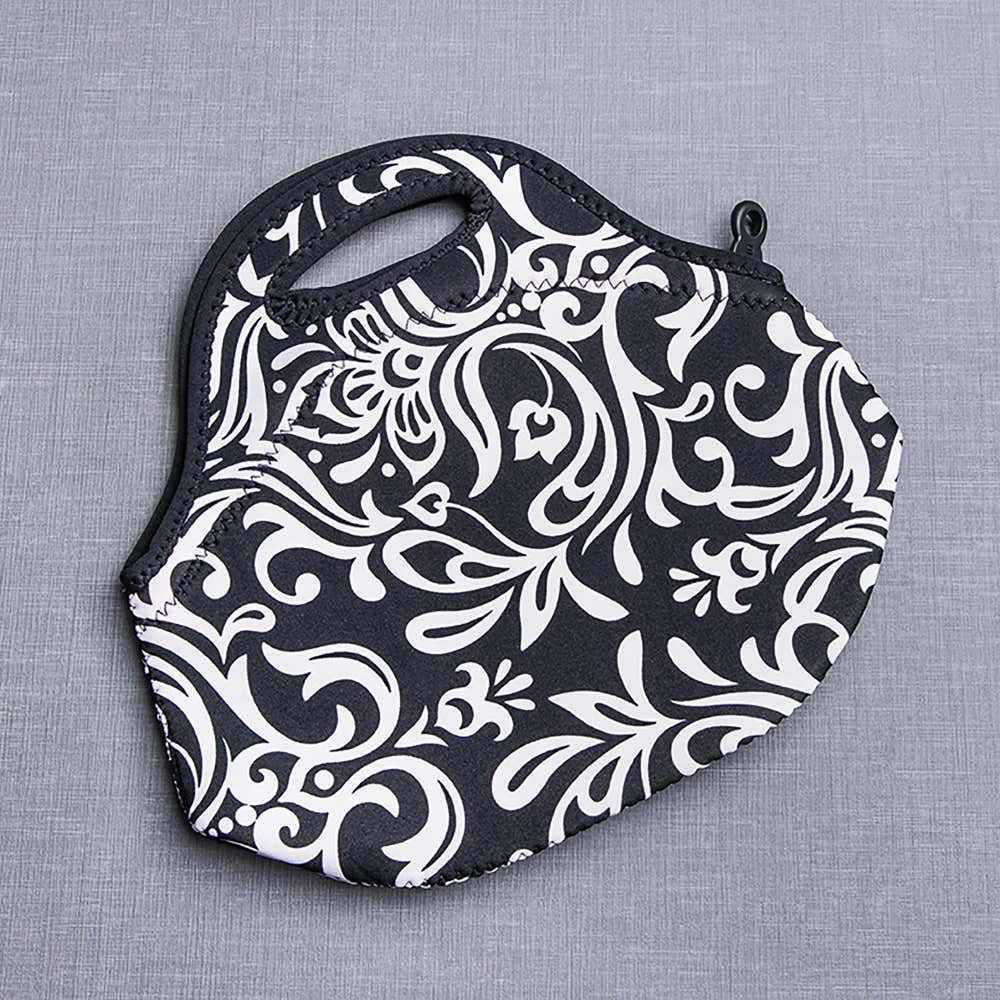 87790_Built_NY_Gourmet_Getaway_'Damask'_Insulated_Lunch_Bag__Black_White