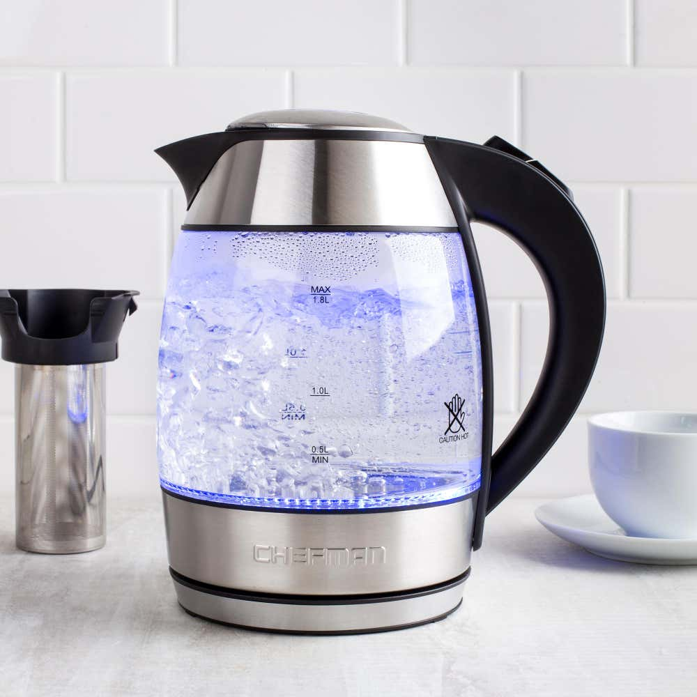 87822_Chefman_Glass_Kettle_with_Infuser__Clear_Brush_Stainless_Steel
