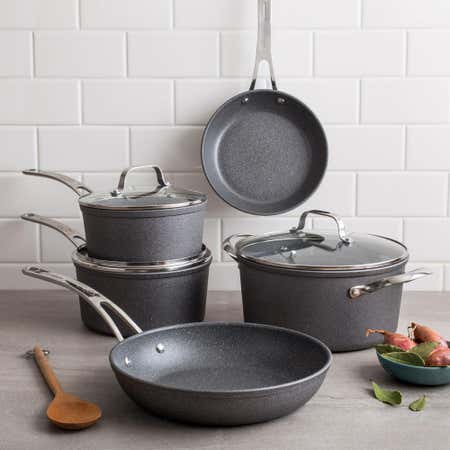 88172_The_Rock_Gourmet_Non_Stick_Cookware_Combo___Set_of_8__Grey
