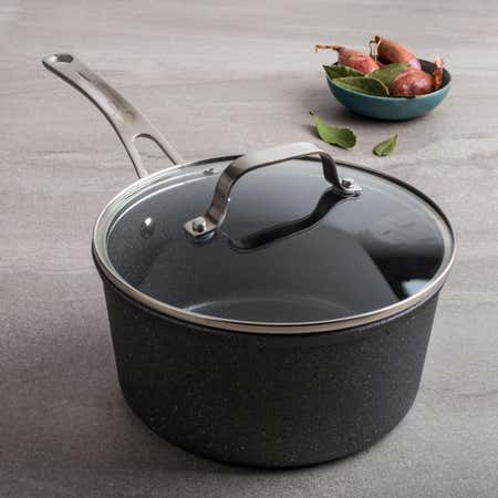88174_The_Rock_Gourmet_Non_Stick_3L_Saucepan_with_Lid__Grey
