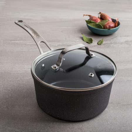 88175_The_Rock_Gourmet_Non_Stick_2_1lL_Saucepan_with_Lid__Grey