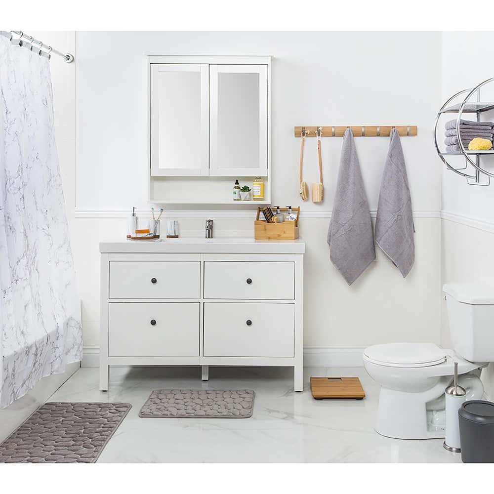 88493_Splash_Polyester_'Marble'_Shower_Curtain__Grey