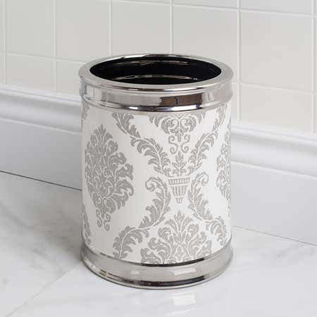88827_Moda_At_Home_Damask_Ceramic_Waste_Basket__White_Silver