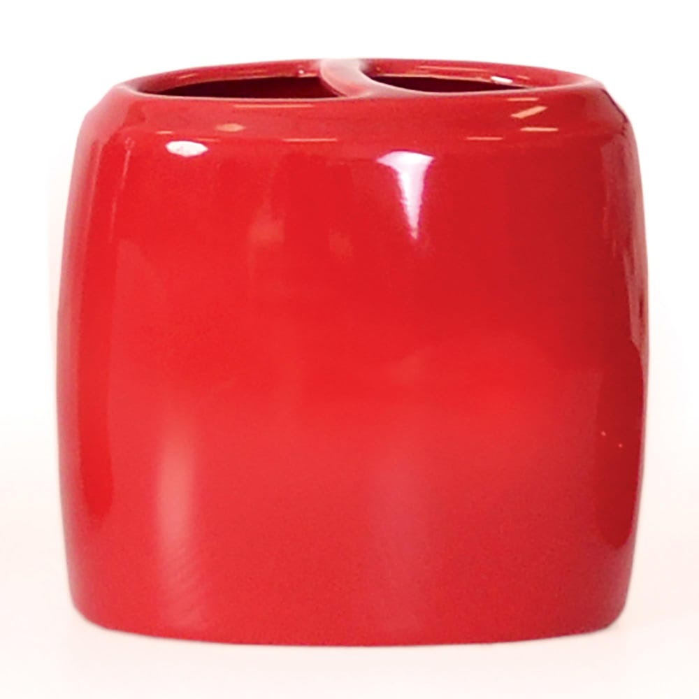 88858_Moda_At_Home_Compel_Ceramic_Toothbrush_Holder__Red