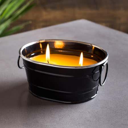 88895_KSP_Gardina_'Oval'_Citronella_Candle_Metal_Bucket__Black