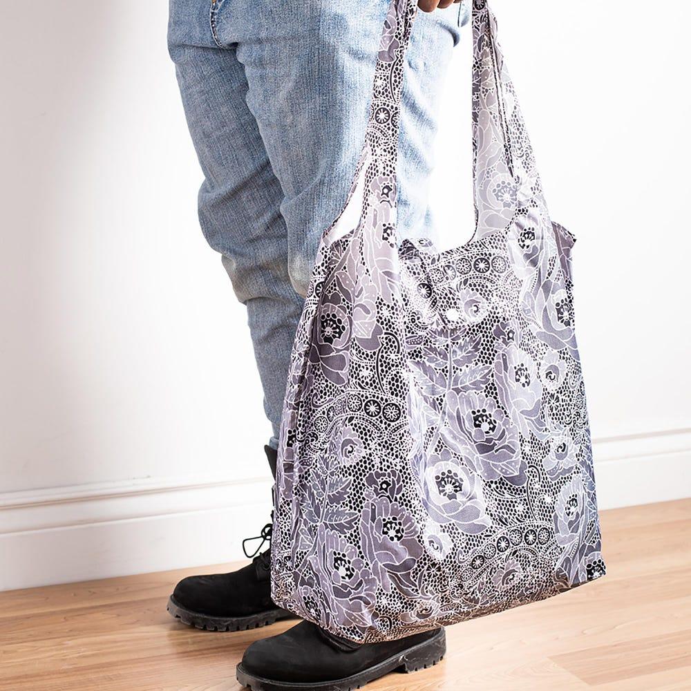 88987_KSP_Carry_'Floral'_Shopping_Bag__Grey