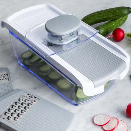 89000_KSP_All_In_1_Mandoline_Slicer_and_Grater___Set_of_7__White_Grey
