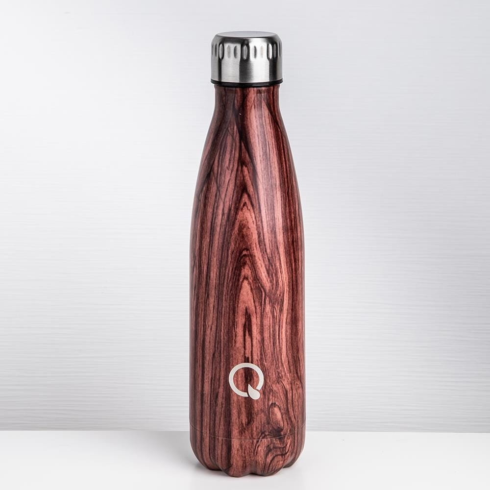 89055_KSP_Quench_'Wood_Look'_Double_Wall_Water_Bottle__Cherry