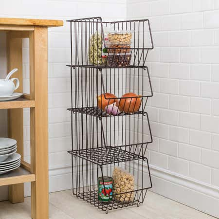 89380_KSP_Ashley_Stacking_Wire_Basket___Set_of_4__Brown