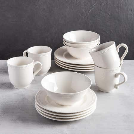 89411_Thomson_Pottery_Pearlina_Stoneware_Dinnerware___Set_of_16__White
