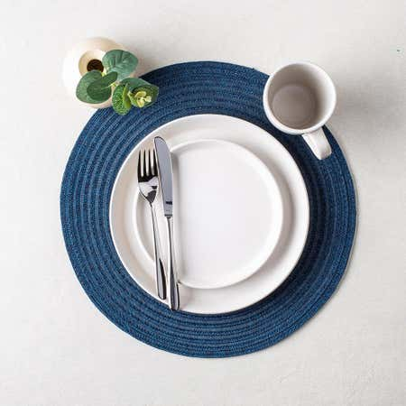 89426_Harman_Urban_Two_Tone_Woven_Round_'Urban_2_Tone'_Vinyl_Placemat__Blue
