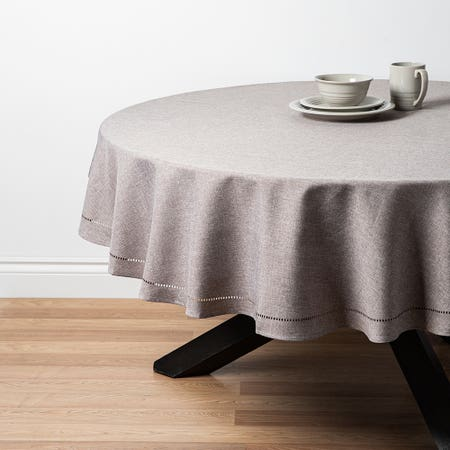 89485_Harman_Hemstitch_70__Round_Polyester_Tablecloth__Grey