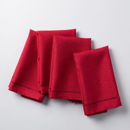 89487_Harman_Hemstitch_Polyester_Napkin___Set_of_4__Red
