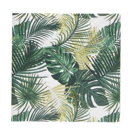 89507_Harman_3_Ply_'Palm'_Paper_Napkin__Green
