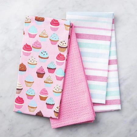 89570_Harman_Combo_'Cupcake'_Cotton_Kitchen_Towel___Set_of_3__Pink