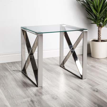 90140_KSP_Xframe_Side_Table__Chrome