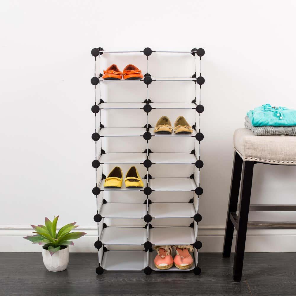 90192_KSP_Closet_Cube_'16_Shoe'_Plastic_Shoe_Cabinet__White