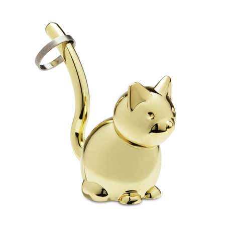 90207_Umbra_Zoola_Die_Cast_Zinc_'Cat'_Ring_Holder__Brass