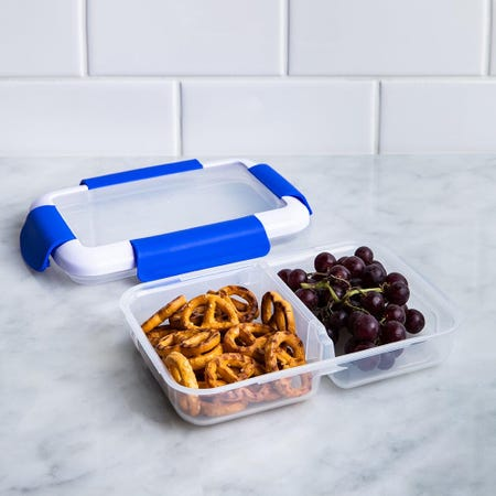 90301_Locksy_Click_'N'_Go_Divided_370ml_Snack_Container__Blue