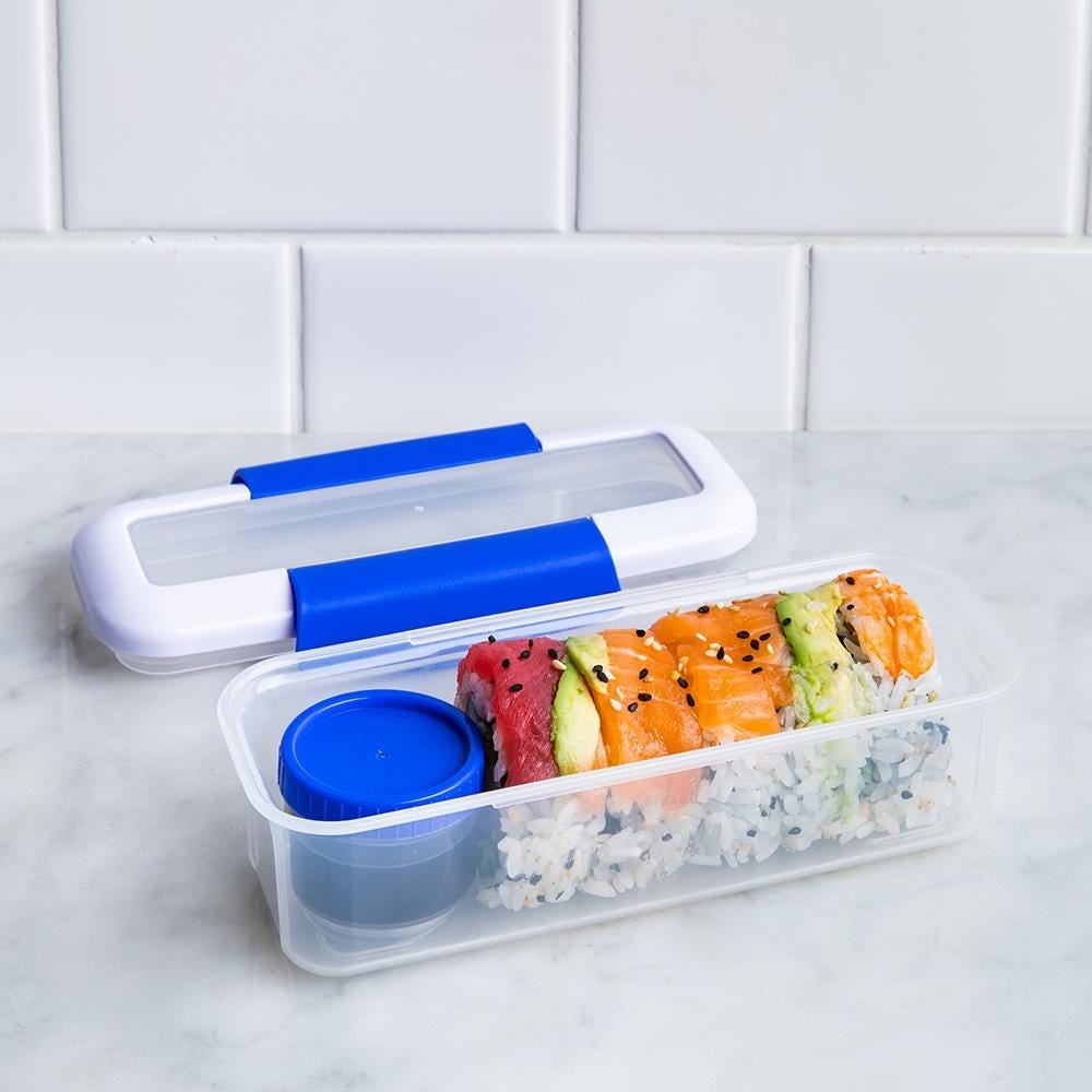 90317_Locksy_Click_'N'_Go_411ml_Snack_and_Dip_Container__Blue
