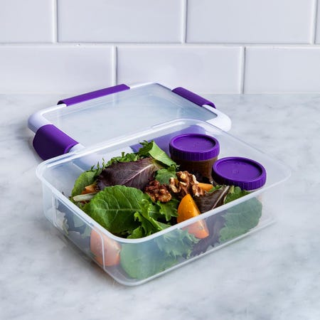 90328_Locksy_Click_'N'_Go_988ml_Lunch_Box_Container__Purple
