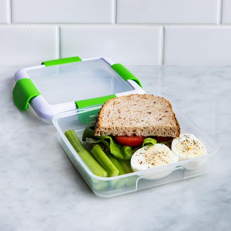 90342_Locksy_Click_'N'_Go_450ml_Sandwich_Container_Box__Green