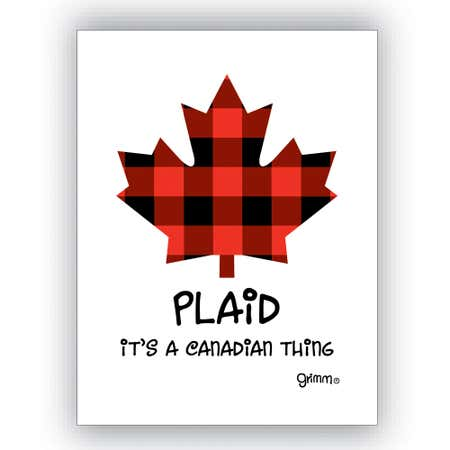 90506_Grimm_Sticky_'Plaid___It'S_A_Canadian_Thing'_Magnet