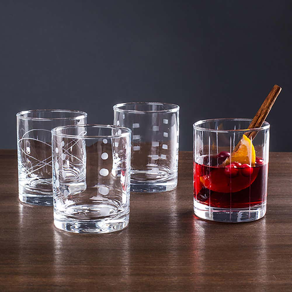 90560_KSP_Linea_'Etched'_Double_Old_Fashioned_Glasses___Set_of_8__Clear