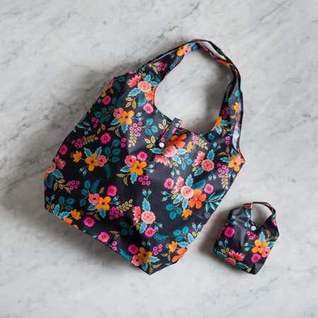 91017_KSP_Carry_'Floral'_Shopping_Bag__Black