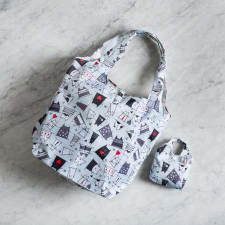 91018_KSP_Carry_'Cats'_Shopping_Bag__Grey