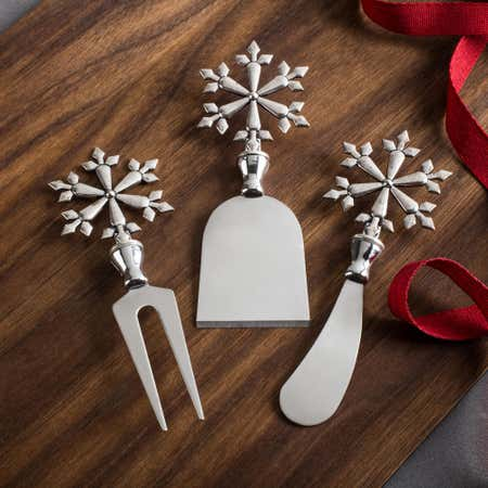 91237_KSP_Christmas_Icon_'Snowflake'_Cheese_Knife___Set_of_3__Silver